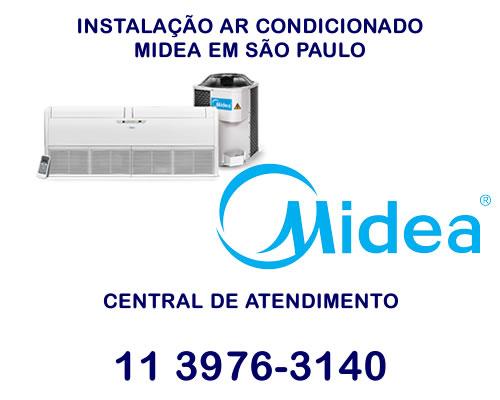 Instalação ar condicionado Midea