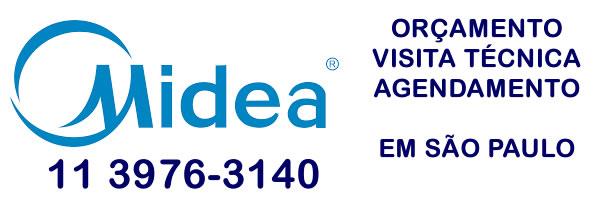 Orçamento assistência técnica ar condicionado Midea