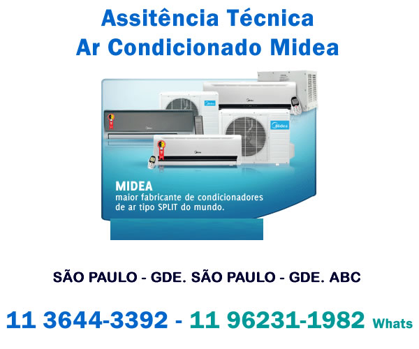 assistência técnica ar-condicionado Midea